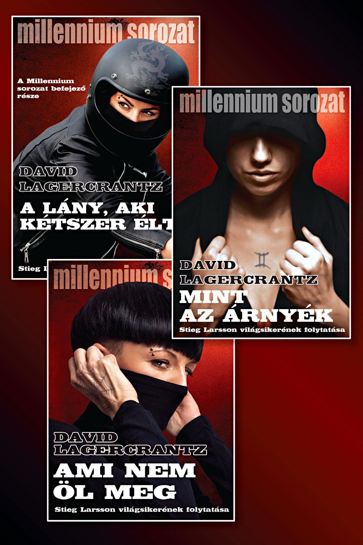 Millennium-sorozat befejező kötetei könyvcsomag