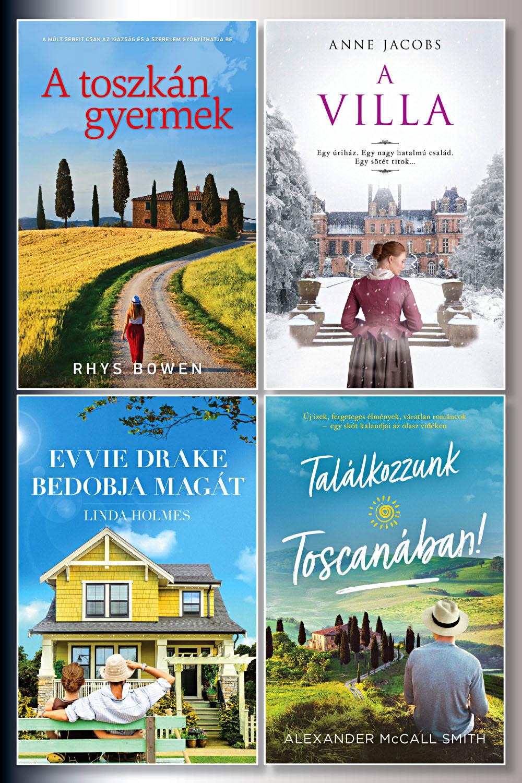 Romantikus női regények könyvcsomag