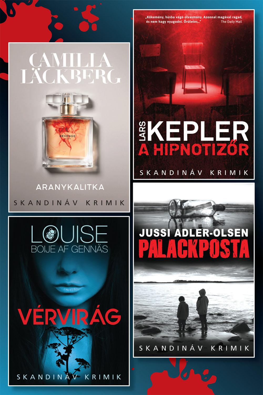 Skandináv krimi könyvcsomag
