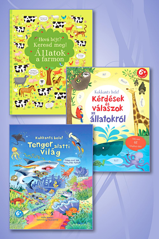 Az állatok szerelmeseinek! Könyvcsomag 5 éves kortól!