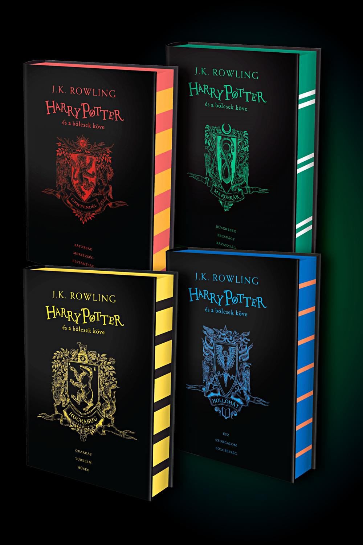 Harry Potter és a Bölcsek köve élfestett könyvcsomag