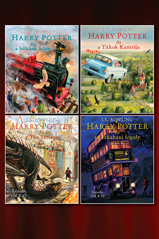 Harry Potter-sorozat könyvcsomag (illusztrált)