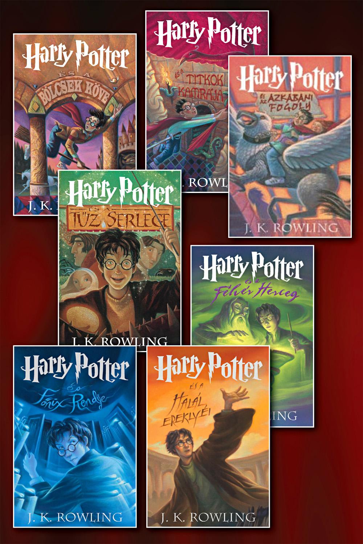 Harry Potter-sorozat könyvcsomag (kemény táblás)