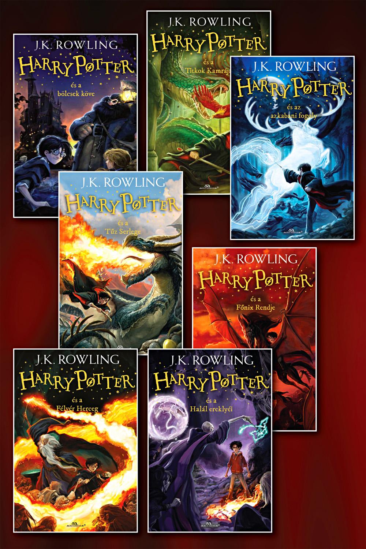 Harry Potter-sorozat könyvcsomag (puha táblás)