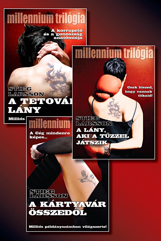 Millennium-sorozat első kötetei könyvcsomag